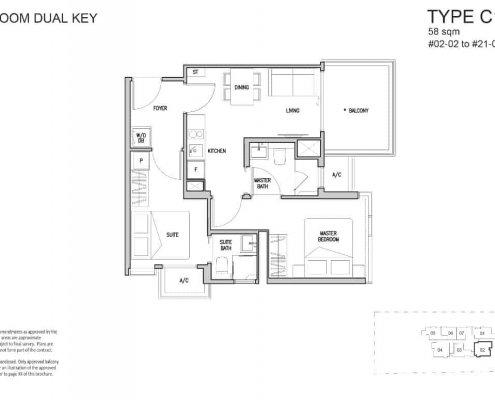 RV-Altitude-Floor-Plan-2-Bedroom-Dual-key-C1